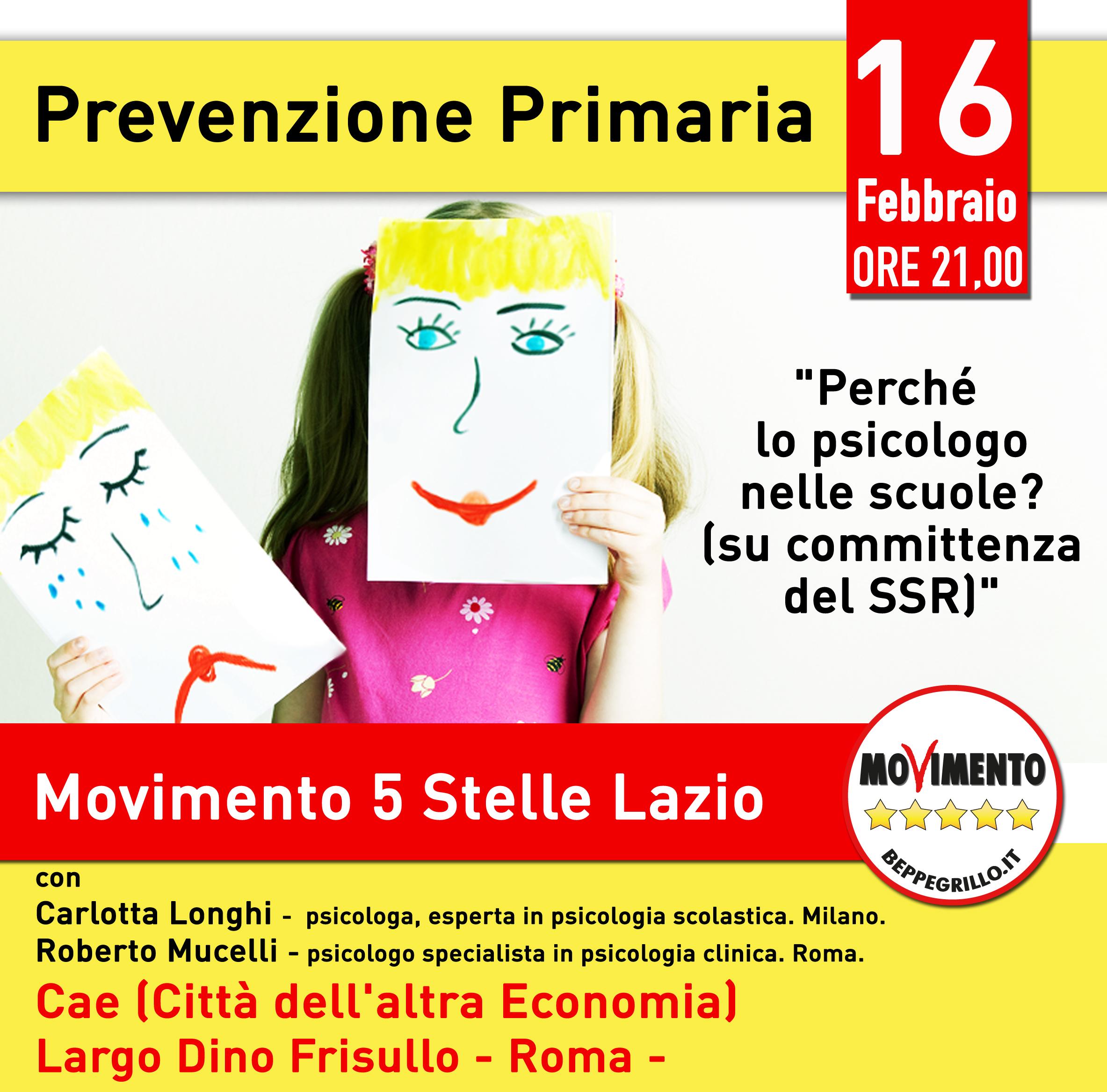 Vogliamo lo Psicologo nelle scuole. Proposta politica nel Lazio