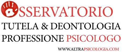 logo osservatorio tutela & deontologia altrapsicologia