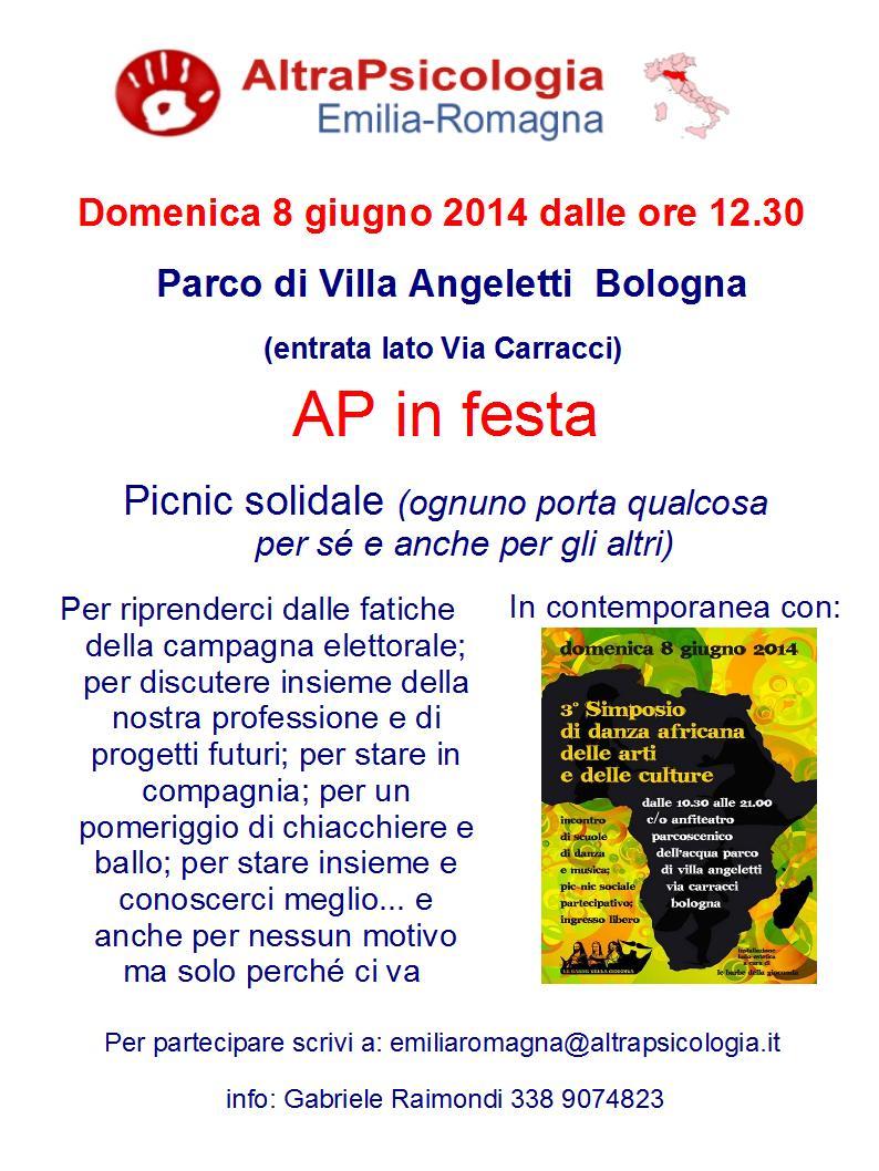 8 giugno – Picnic con AltraPsicologia Emilia Romagna