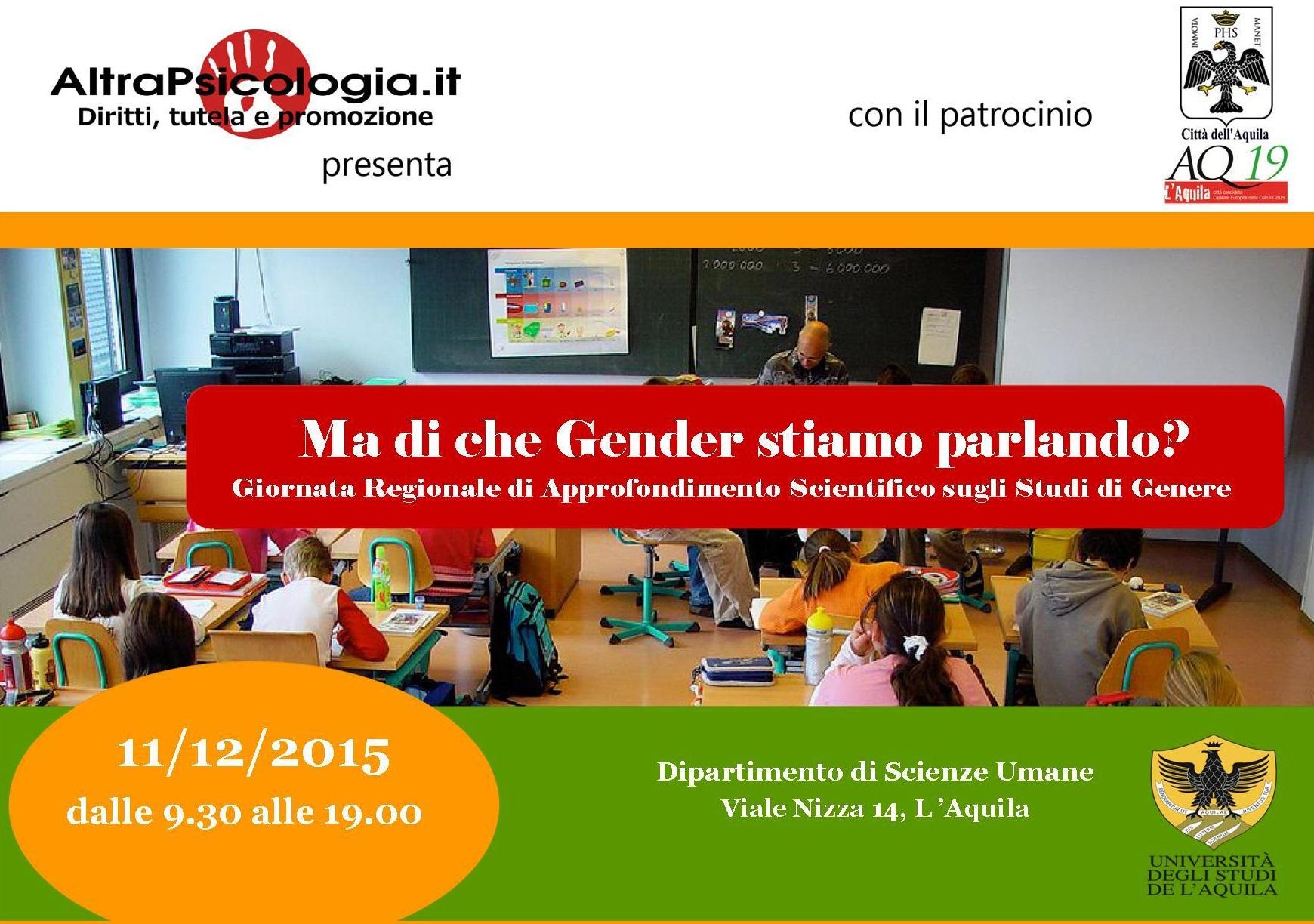 E in Abruzzo: di che Gender stiamo parlando?