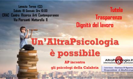 AltraPsicologia incontra gli psicologi della Calabria